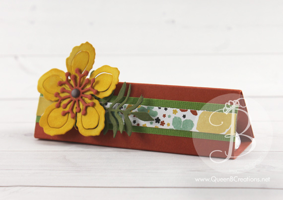 Stampin Up! Botanical Blooms Kiss Tent Gift by Queen B Creation