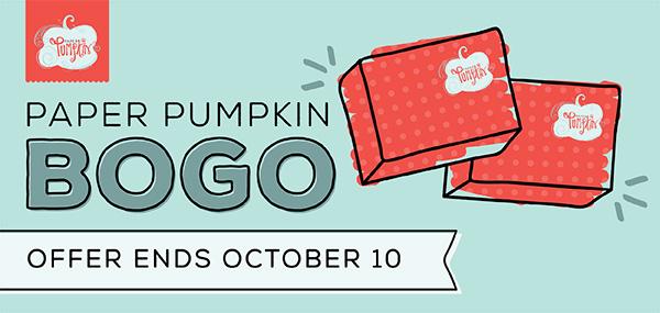 Stampin' Up! Paper Pumpkin BOGO Sale