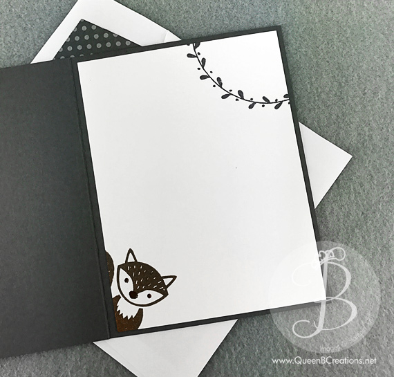 Squirell in a tree made with the Stampin' Up! Fox Builder Punch by Queen B Creations