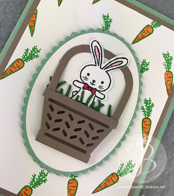 Stampin' Up! Easter Bunny in a basket card using Basket Bunch and retiring 2015-2017 in colors Remarkable Inkbig blog hop